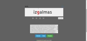 Egy gyorsolvasást segítő alkalmazás, amely a szöveget szavanként mutatja